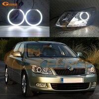 For SKODA OCTAVIA MK2 A5 FL 2009 2010 2011 2012 smd led Angel Eyes kit Day Light Excellent Ultra bright illumination DRL