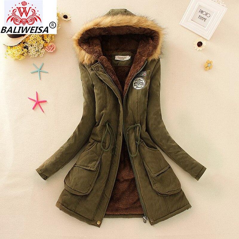 BALIWEISA 2019 Parkas Femelle Femmes manteau d'hiver Velours Épaississement De Coton D'hiver Veste Femmes vêtements Parkas d'extérieur pour les Femmes D'hiver