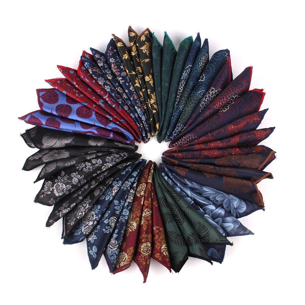 Fashion Polyester Handkerchief Floral Pocket Square For Wedding 24cm*24cm Hankies For Men Brand Suits Pocket Towel Hanky