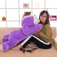 large 120cm lovely purple prone dog plush back cushion throw pillow hugging pillow toy home decoration gift a1264