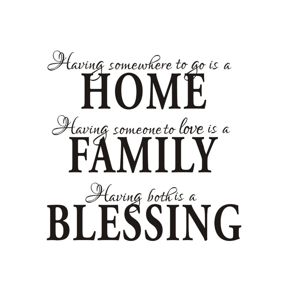 Home Family Blessing English Quote Saying Poetry Wall Decals Bedroom