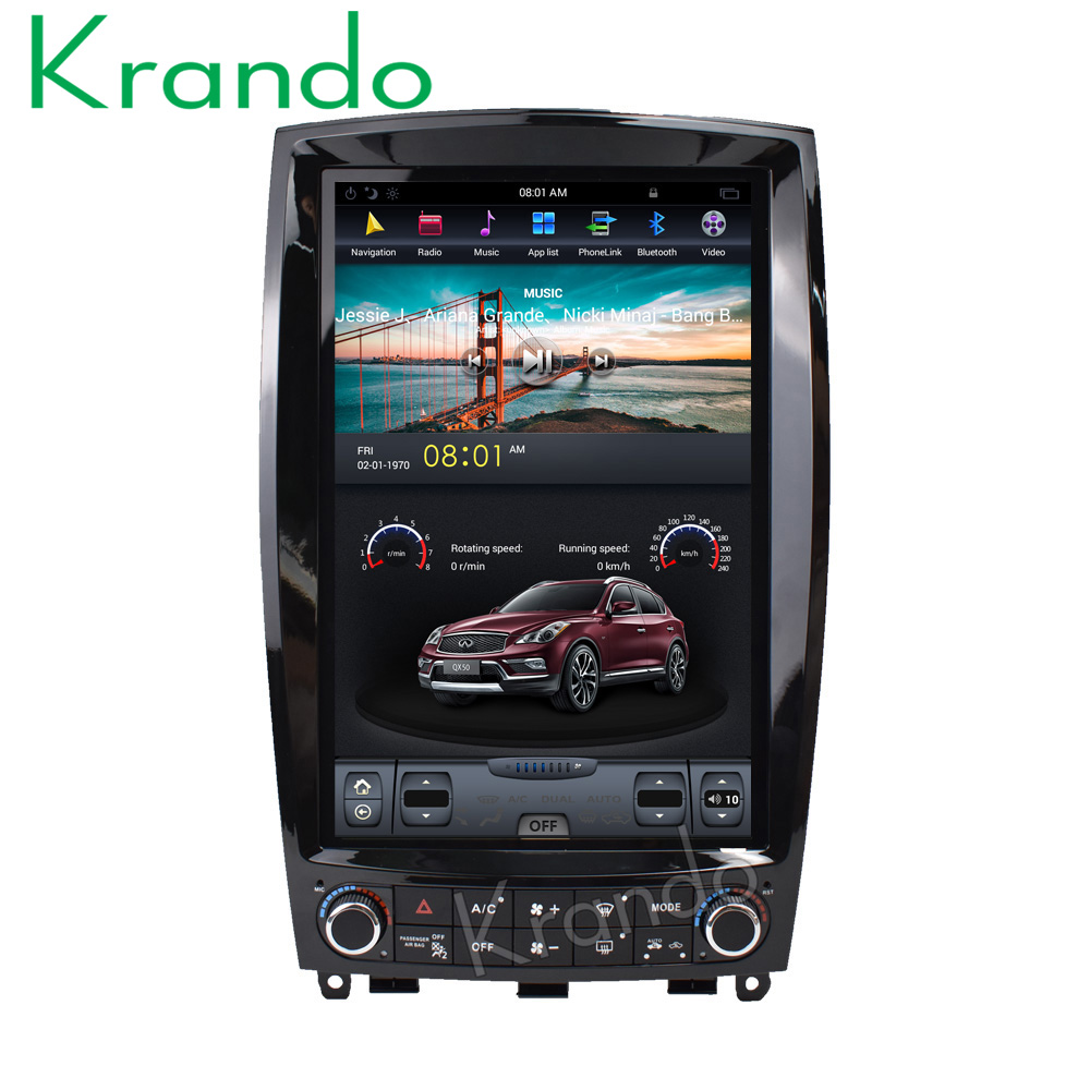Krando Android 60 121 Tesla Vertical Screen Car Radio Player For 2008 Infiniti Fx35 Oem Remote Start With Smartphone Control Free Audio Gps Navigation Qx50