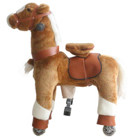Mechanical Walking Ride on Horse Toy with Wheels Giddy Up Moving Horse Action Pony S Size Riding on Toy for Age 3 7 Children Kid