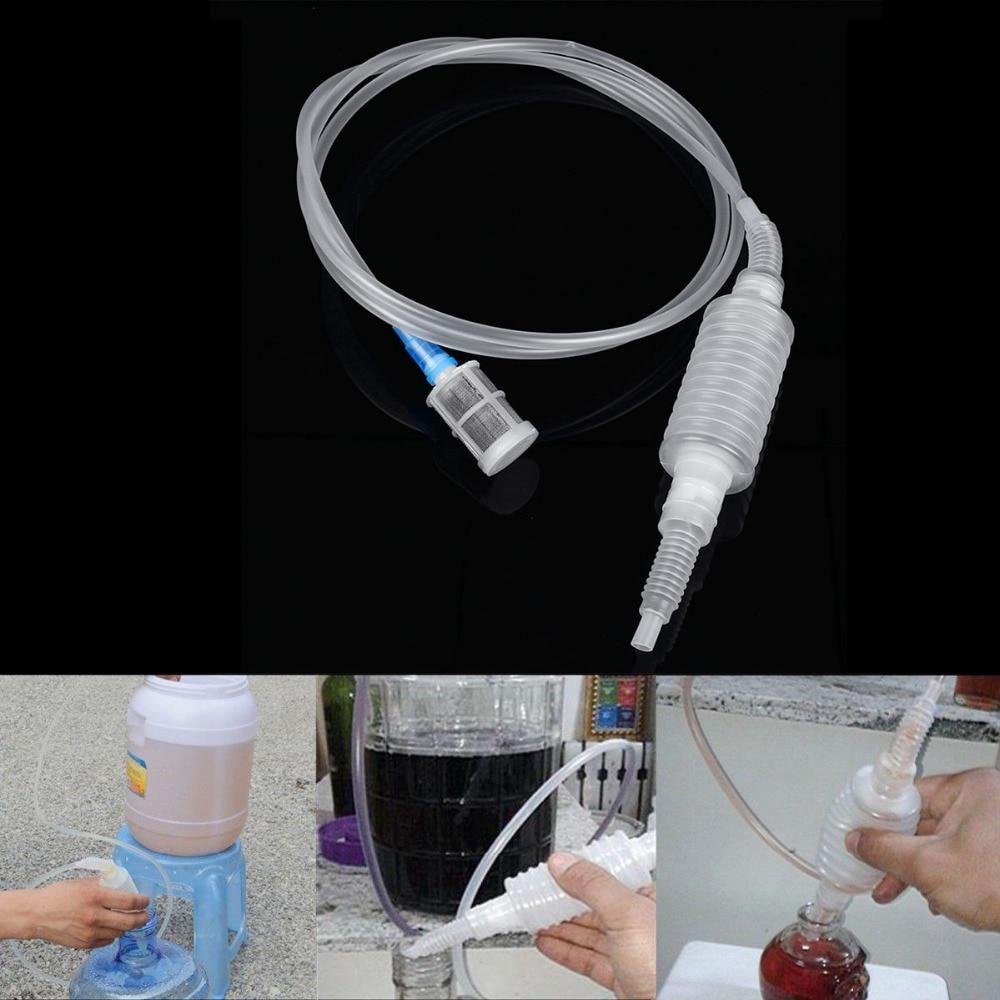 2017 Նոր Brew Siphon Tube Խողովակների գուլպաներ ալկոհոլային խմիչքների համար Գարեջուր ջուր Գինի ոչ թունավոր բար գործիքներ Կաթիլ առաքում