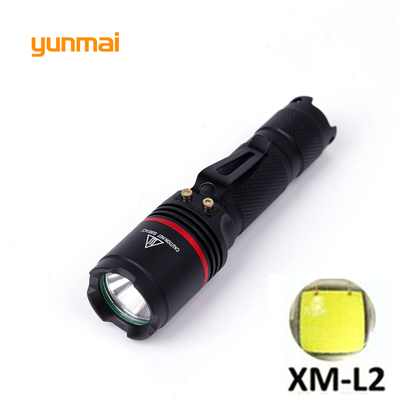 Powerful LED Flashlight CREE XM-L2 U2 light 3800 lumens Use AA or 14500 Battery tactical portable light lantern Hunting Light nitecore mt10a tactical flashlight edc cree xm l2 u2 920 lumens led mini torch with red white light by 14500 aa battery