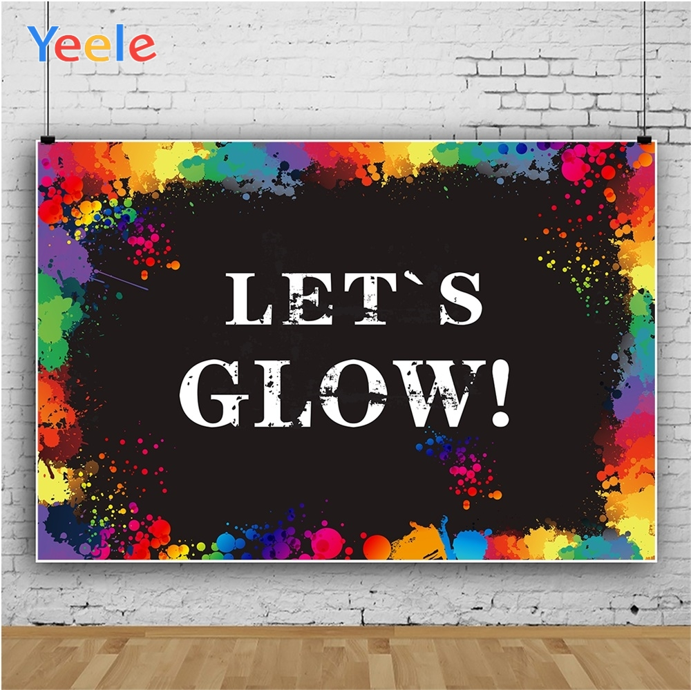 Yeele Holi Festival Photocall Let 39 s Glow Benediction Photography Backdrop Personalized Photographic Backgrounds For Photo Studio in Background from Consumer Electronics