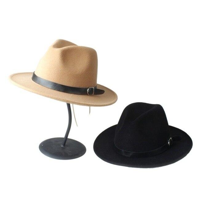 Musim panas pria wanita Chapeu Feminino Sun Topi Dengan Pinggiran Lebar  kulit Band Jazz Topi Panama 0544fca191