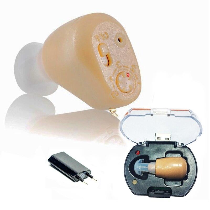 Hot besten Wiederaufladbare mini hörgerät ohr sound verstärker hörgeräte freies verschiffen Tiny stimme hilfe wiederaufladbare hörgerät