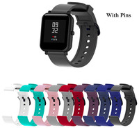 Silicone Sport Wrist Strap for xiaomi Huami amazfit Bip Smart Watch Strap 20mm Replacement For Dropship