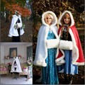 Faux Fur Edge Satin Winter Bridal Cape Short Wedding Cloaks Bolero Women Winter Coat Warm Hand Cover Bridal Wraps Custom color