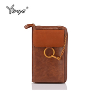 vintage casual women wallets PU leather mobile phone purse Small and practical ladies shoulder crossbody bag women card package