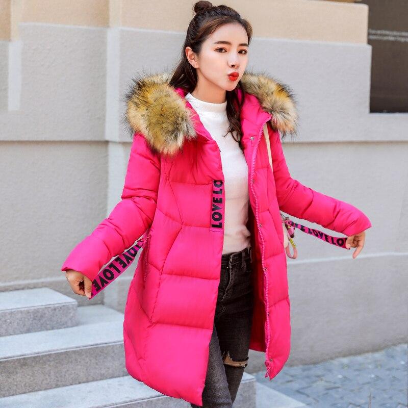Taille rouge Lj0763 À Femmes Rose Capuchon D'hiver Plus Parka 2018 Coton Red Vestes Veste jiao La Tang noir Hiver Outwear Manteau Pour Qualité Haute Long Rembourré n0YqFxaH4