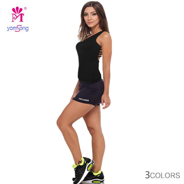 Yomsong 2015 Nuevas mujeres de la Moda Sexy Top Deportivos Espalda Cruzada Tanque Aptitud Superior Tamaño Libre Tres Colores