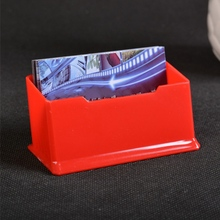 Buy acrylic card box and get free shipping on aliexpress 1pcs new colorful desk shelf box storage acrylic plastic transparent desktop business card holder drop shipping reheart Images