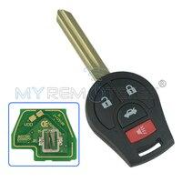 CWTWB1U751 ile Uzaktan anahtar 3 düğme panik 2008-2014 Küp Juke Versa Rogue 315 mhz ID46 çip ile Için NISSAN remtekey
