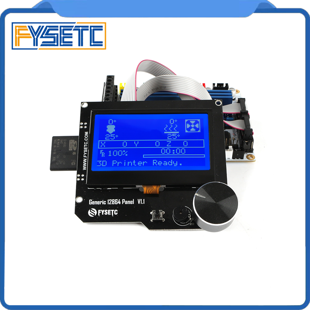 Generic 12864 Panel V1.1 Smart 12864LCD Module Display Blue Screen Support Marlin DIY For CNC RAMPS Cheetah F6 VS Mini12864