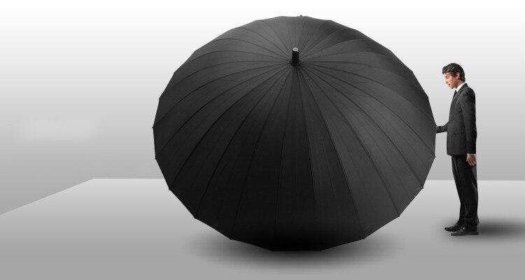 Лидер продаж Творческий длинная ручка Открытый 24 ребра кости прямой зонтик большой Гольф зонтики два или три человека компактные зонты