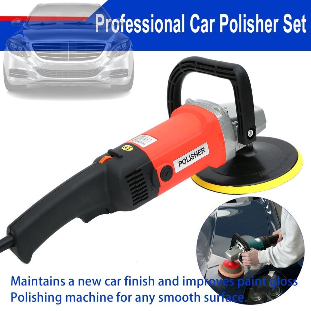 лучшая цена 1500W Professional polishing machine Car Polisher Set Polishing Sponge Pads Kit Sets Metal Polishing Tool for Automotive Car