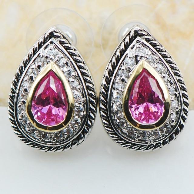 pink Kunzite 925 Sterling Silver Earrings TE618