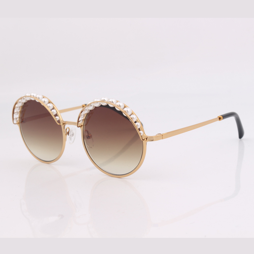 Image 5 - high quality round frame women sunglasses with pearls ,grey lens women sunglasses-in Women's Sunglasses from Apparel Accessories