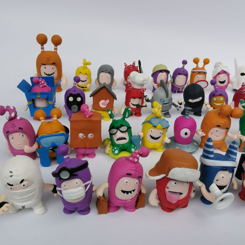 Figures Oddbods-Toy Zee Gift Fuse Slick PVC 10pcs Jeff Collection