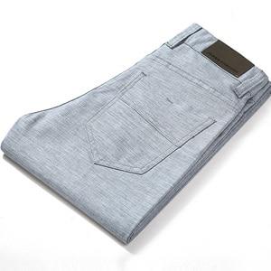 Image 1 - HCXY Brand 2019 Summer high quality Mens Linen Pants man Casual thin trousers Men pantalones male pants Plus size 38