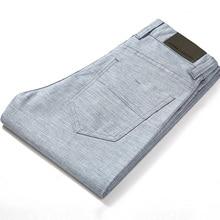 HCXY marque 2019 été haute qualité hommes lin pantalon homme décontracté mince pantalon hommes pantalons homme grande taille 38