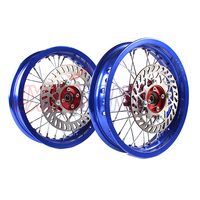 blue 15MM CNC hub Aluminum Alloy Wheel Rims front 2.15 x12inch and rear 2.50 12 for KLX CRF Apollo BSE Pit Bike Dit Bike