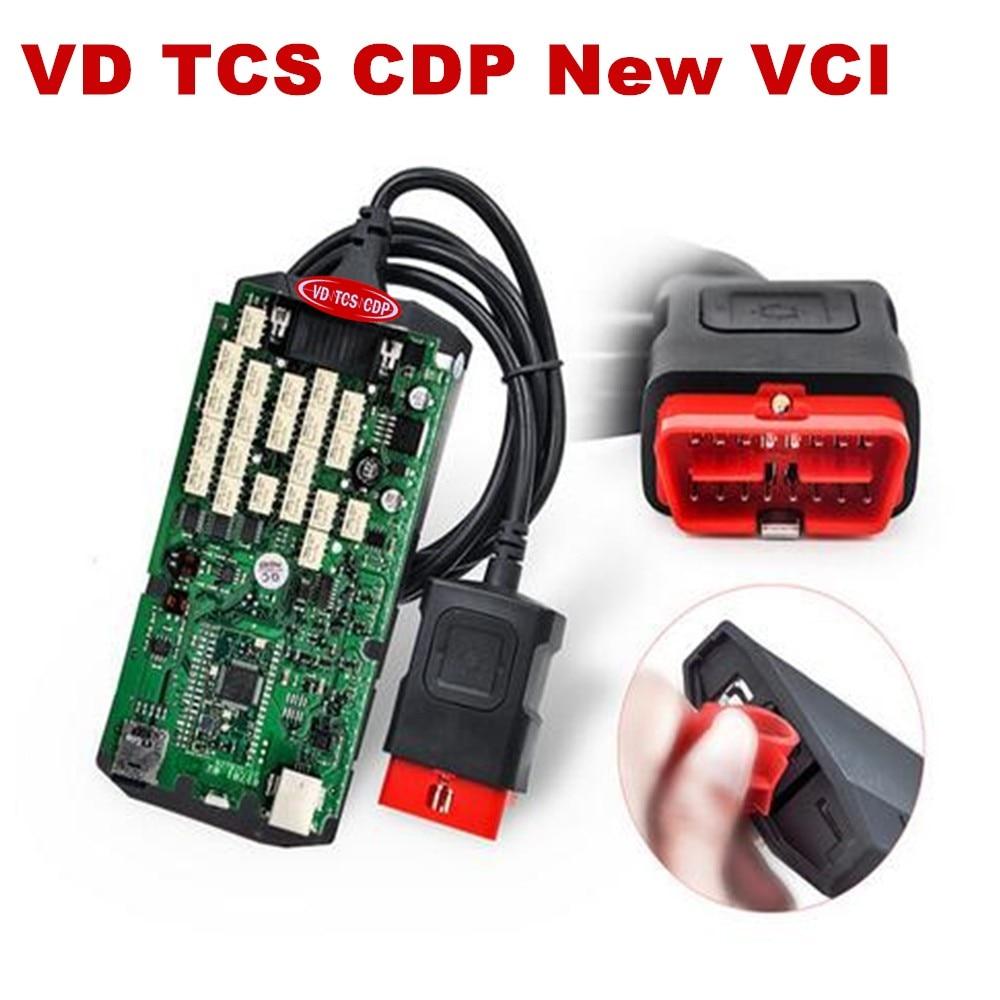 Prix pour A + Qualité VD TCS cdp pro plus Avec bluetooth unique vert PCB 2015.1/2014.2 logiciel de voiture/camions outil de diagnostic