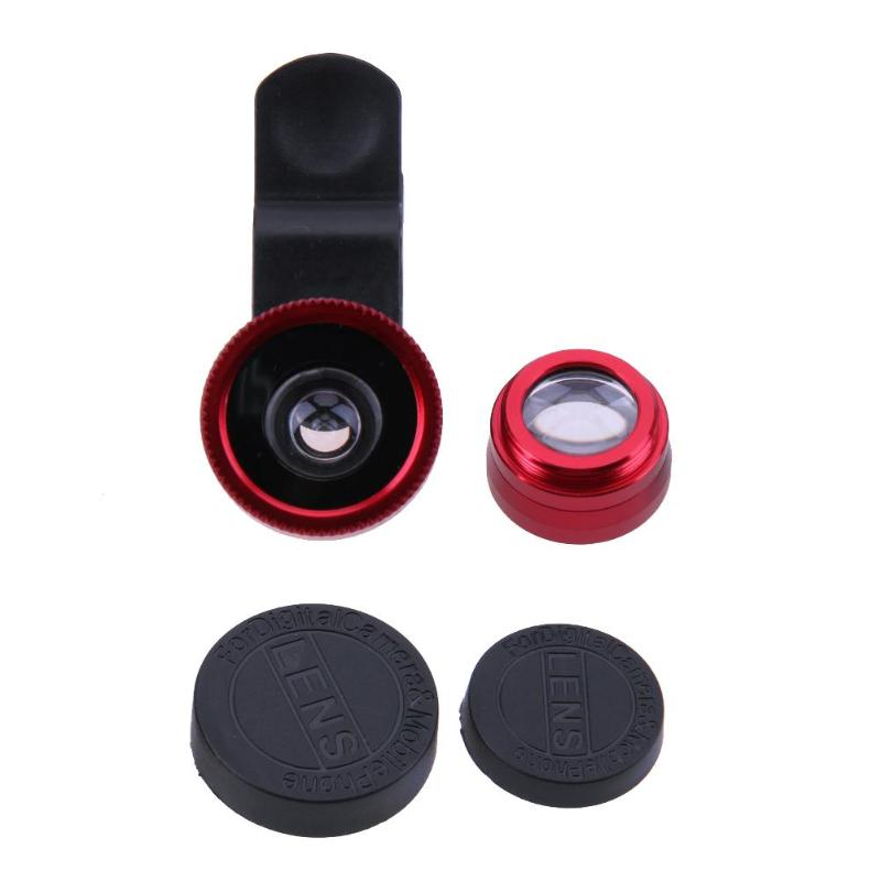 3-in-1 Universal Mobile Phone Camera Lens Kit With Clip For All Smartphones 20