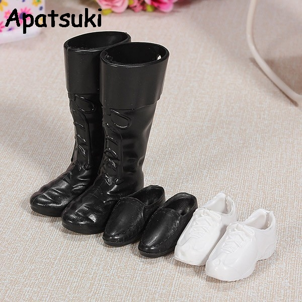 3pairs set Fashion Doll Accessories Doll Shoes Boots Sneakers For Prince Ken Doll For Barbie Boyfriend