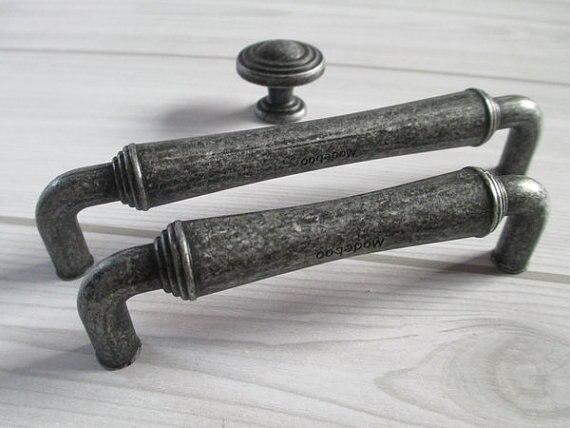 Tiroir Boutons Poignées Dresser Bouton Pulls Poignées Antique Noir  Décoratif Meubles Matériel Du0027armoires De