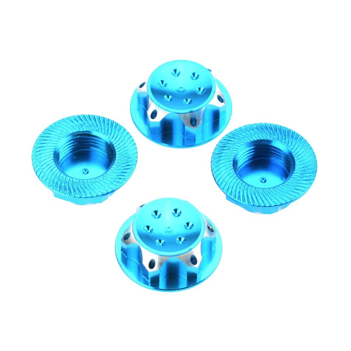ABWE Best Sale 4Pcs RC Buggy 1/8 <font><b>Scale</b></font> 17mm Dust Lock Nuts Adapter for RC Off-Road Truck Redcat LOSI Team-C <font><b>Wheel</b></font> and Rims Nut image