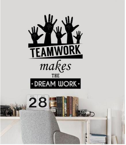 English Character Words Encouragement Office Wall Sticker