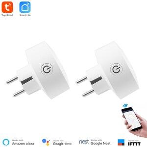 Image 1 - Akıllı yaşam APP ab güç izleme WiFi soket kablosuz fiş akıllı ev anahtarı ile uyumlu Google ev, alexa ses kontrolü