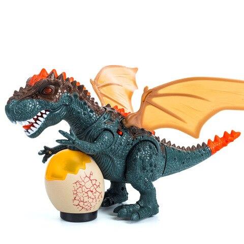 tyrannosaurus balancando cabeca flash olhos ovos andando