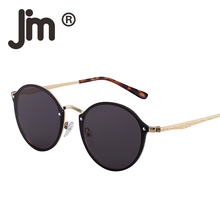 JM Wholesale 10pcs/lot Rimless Round Mirror Lightweight Sunglasses Women Men Retro Fashion Sun Glasses Vintage UV400 Gafas