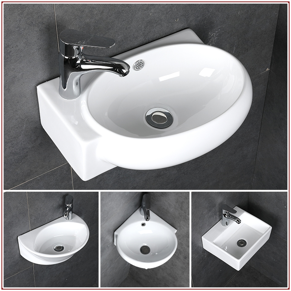 Small wash basin ceramic bathroom sink mini hanging basin ...