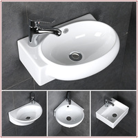 Small wash basin ceramic bathroom sink mini hanging basin white bathroom small wash basin sink wx11191557