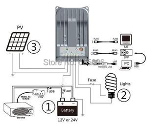Image 5 - EPEVER 40A 12v 24v ソーラーパネル充電レギュレータ 24v 40A MPPT 機能トレーサー 4215BN