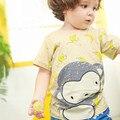 Little maven бренд детской одежды 2017 новый летний ребенок мальчик одежда Хлопок прекрасный обезьяна печати футболка 60239