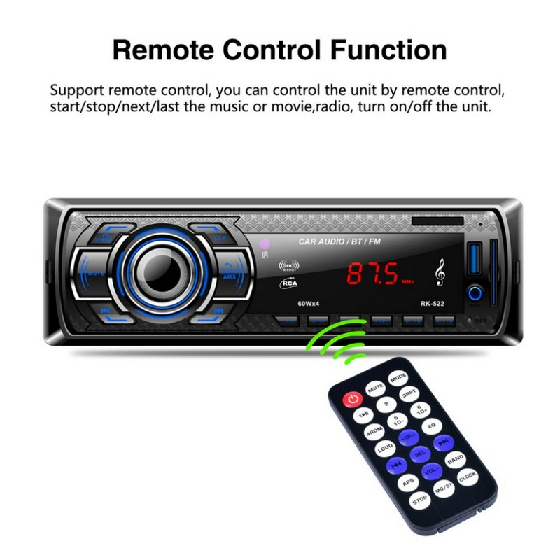 RK 522 Car MP3 Player AUX Built in Bluetooth Hand free Auto Bluetooth Radio USB 2.0 1din Stereo Car MP3 Radio Player Bluetooth-in Car MP3 Players from Automobiles & Motorcycles