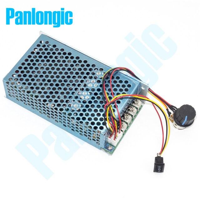 10 50V 100A 5000W Reversible DC Motor Speed Regulator PWM Controller 12V 24V 36V 48V Soft Start Forward Stop Reversal Switch