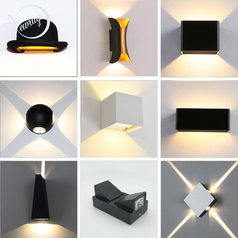 Brief LED  Waterproof Indoor Wall Light Modern Aluminum Wall Lamp Sconce Outdoor Stair Bathroom Garden Porch Bedroom Mirror Lamp