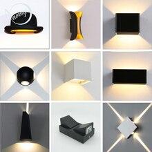 קצר LED עמיד למים מקורה קיר אור מודרני אלומיניום מנורת קיר מנורות קיר חיצוני מדרגות אמבטיה גן מרפסת חדר שינה מנורת מראה