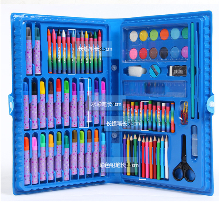 deli child puzzle stationery gift set toy paint brush crayon watercolor pen primary school students gift supplies Deli Child puzzle stationery gift set toy paint brush crayon watercolor pen primary school students gift supplies