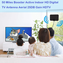 2018 New 25DB HDTV HD Indoor Digital ATSC Antenna With TV Aerial Amplifier 50 Mile Range Fox HDTV DTV VHF Scout Style TV Scout