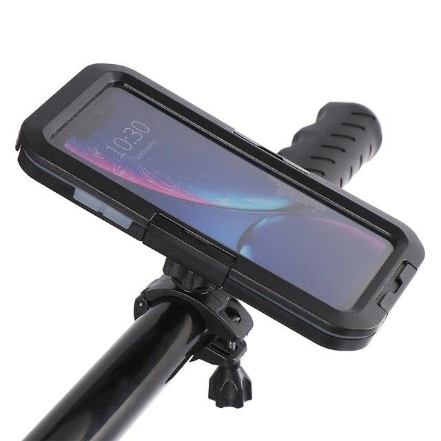 Высококачественный 360 ° водонепроницаемый держатель для телефона на руль велосипедный мотоциклетный чехол для iPhone 5 5s 6 6s 7 8 Plus X XR XS Max