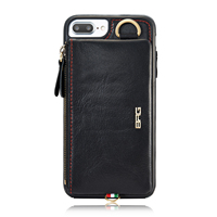 Coque Luxury Genuine Leather Wallet Cases For Apple iPhone 6 Plus 6S Holster Phone Bag For iPhone 7 Plus Cell Phone Mobile Hot
