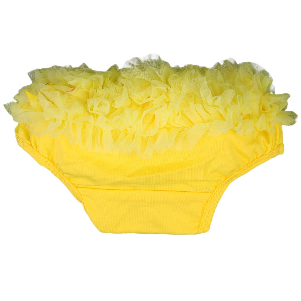 ABWE Best Sale Baby Girl Ruffle Panties Bloomers Diaper Cover S (Yellow)